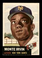 1953 Topps Set Break # 62 Monte Irvin EX-MINT *OBGcards*