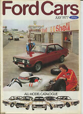CAR BROCHURE: FORD CARS - JULY 1977 (INCLUDES ESCORT RS 2000/RS MEXICO/RS 1800)