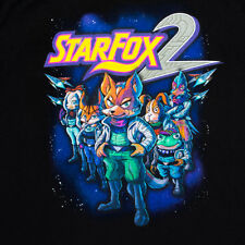 STAR FOX 2 XL X-LARGE Tee Shirt Super Nintendo StarFox Vintage Cover Art RARE