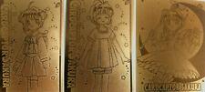 3 Cardcaptor Sakura Golden Foil Cards #07 #26 #50 Amada Printing Clamp Japanese