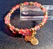 ALEX and ANI Vintage  rose Crystal Beaded Wrap Bracelet rg