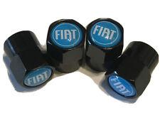 fiat  abarth 500 punto spider dust cap black/blue (set 4)