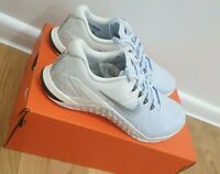 UK6.5 EUR40.5 Nike Wmns Metcon 4 XD MTLC IV Half Blue Silver Trainers AV2252-400