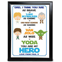 Personalised Dad Daddy Gifts Star Wars Fathers Day Christmas Birthday Keepsake
