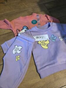 M&S Marks & Spencer baby girl sweatshirt clothes bundle, age 0-3 months, BNWT