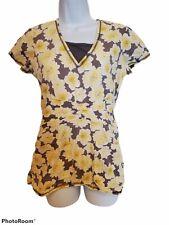 New listing Healing Hands Womens Scrub Top Shirt Size Xs Gray Floral Medical Vet