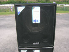 """QSC HPR 151i 700 Watt 15"""" Powered Subwoofer New Old Stock with Warranty One Pair"""
