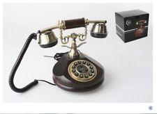 TELEFONO IN legno funzionante vintage TELEFONO STILE ANTICO MANOVELLA regalo