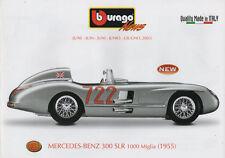Bburago-News-Juni 2003-Mercedes Benz 300 SLR-1000 Miglia (1955)-Faltblatt-neu
