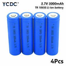 Batería recargable de 18650 3.7V 3000mAh Linterna antorcha Faro para 4Pcs 120E