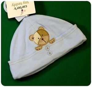 New/NWT~CARTERS~TOY TEDDY BEAR COLLECTION~BLUE HAT/CAP~BABY BOYS 3-9 months~VHTF