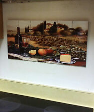 "Hangable Tile Mural  / Kitchen Backsplash / Kitchen Art / Tile Art 12.75""x25.5"""