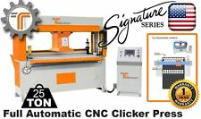 NEW!! CJRTec 25 Ton Traveling Head Clicker Press Full Automatic CNC