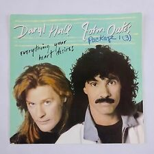 Hall & Oats ~ Everything Your Heart Desires ~ 45 w Picture Sleeve 1988 Arista