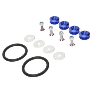BLUE - Quick Release Fasteners Hooks For Car Bumpers Fender Hatch Lids Kit