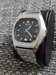 Seiko Vintage Herren Uhr Automatik Automatic Dresser schwarz 36mm