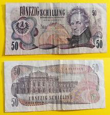 50 Schilling Banknote Österreich 1970 Ferdinand Raimund