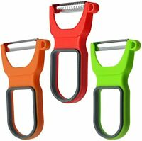 3-Piece Peeler Set, Vegetable Julienne Peelers With Stainless Steel Blades
