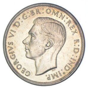 SILVER - WORLD COIN - 1937 Australia 1 Crown - World Silver Coin *056