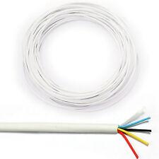 25m 4-way/2 Par Alarma cable-tinned de cobre trenzado Cctv Panel Puerta contacto Pir