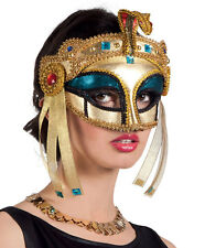 VENETIAN MASQUERADE BALL MASK GOLD CLEOPATRA LADIES MASKED EGYPTIAN EYEMASK NEW