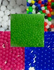 Sea Fishing Rig Beads 2.5mm 5mm 6mm All Colours Oval Round Carp glow x200   UK