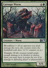 MTG 2x CARNAGE WURM - WURM DEL MASSACRO - M12 - MAGIC