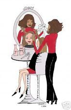 African American Salon cards hair stylist diva gift
