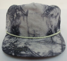 174360df1c92c OTTO CAP VINTAGE HAT RETRO CREW WASH STRING NYLON ZIPBACK ADJUSTABLE BLACK  GRAY