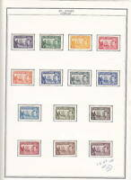 St Helena, 1938 KGVI SG 131-140, MH, Lot 4566