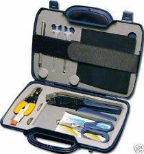Pro Fiber Optic Cable Tool Kit w/Hard Carry Case - Cutter Stripper Crimper Etc.