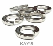 SPRING COIL WASHERS A4 MARINE GRADE STAINLESS STEEL, LOCK, SPIRAL M2 - M30