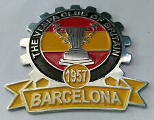 VESPA PLACCA BADGE BRITAIN CLUB 1957 BARCELONA DOUGLAS HOFFMAN GS 150 160 SALE