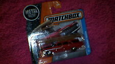 Matchbox (UK Card) - 2017 - #1 '59 Chevy Wagon with Luggage & Boat - Red & Brown