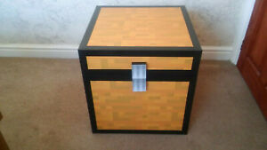 Mine craft Style Large Chest Ideal Kids Childrens Toy Box Storage 50x50x50cm