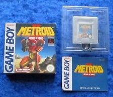 Metroid II regreso de Samus, juego Nintendo Game Boy GB, caja original instrucciones
