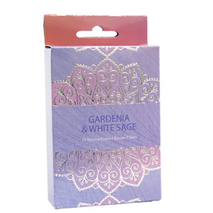 Gardenia & White Sage Incense Cones Home Fragrances Aroma Scent Relaxing Holder