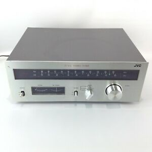 JVC JT-V31 Silver Face Stereo Tuner AM/FM Radio Amplifier Made in Japan Tested