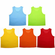 Youth Sports Breathable Soccer Bib Basketball Rugby Training Vest 6pcs
