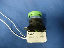 BACO 33E10 CONTACT BLOCK 10A WITH GREEN PUSH BUTTON SWITCH