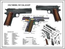 Poster Planche Technique U.S. Army Colt 1911-Moyen Format-45cm x 61cm D-Day WWII
