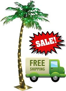 lightshare 5ft artificial lighted palm tree, 56led lights, decoration for patio