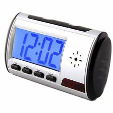 HD Cam Alarm Clock Camera Security DVR Record Video Camera With 8GB Menory Card
