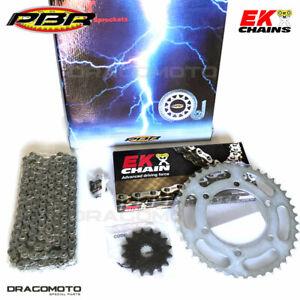 DERBI GPR R / NUDE 125 2006 2007 catena corona pignone kit PBR EK 297