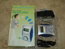 Boydgaming SP0855 Digital Pedometer with FM Radio Earphones Step Counter