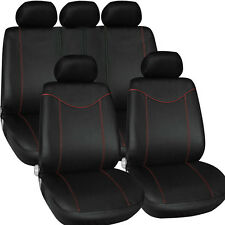 Red+Black 11pcs Full Seat Cover Set Universal Car Seat Cover Low Front Back Set