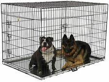 GoPetClub MLD-54, 54-inch 2-Door Dog Pet Folding Crate Cage House with Divider