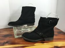 Zigi Girl Chilly Black Leather Ankle Boots Women's Size 8.5 M