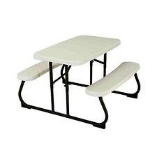 Outdoor Kid's Picnic Table Patio Portable Folding Children Stain Resistant New