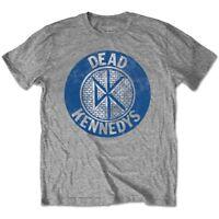 Rockoff Trade Men's Vintage Circle T-shirt, Grey, Medium - Dead Kennedys Mens